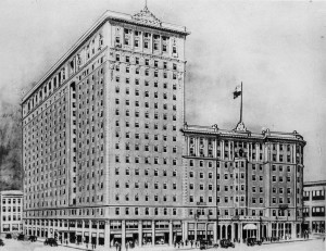 1925 postcard of the King Edward Hotel between Victoria and Leader, Toronto, Canada
