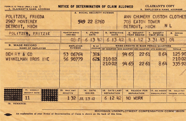 1940u0027s WWII Unemployment  Unemployment Resume