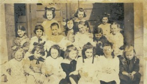 Probably one of Fritzie's class pictures.  She is in the middle row, 3rd from the left.